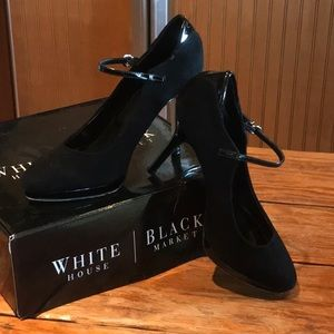 WHBM Black Size 8 Mary Jane